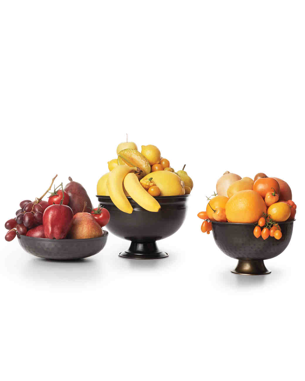 Colorful Fruit Bowl Wedding Centerpieces