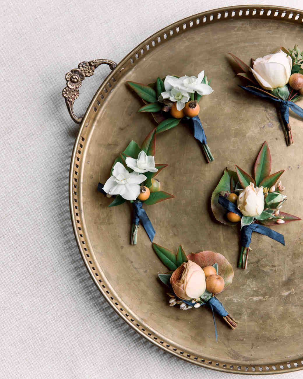 gillian marcus wedding boutonnieres