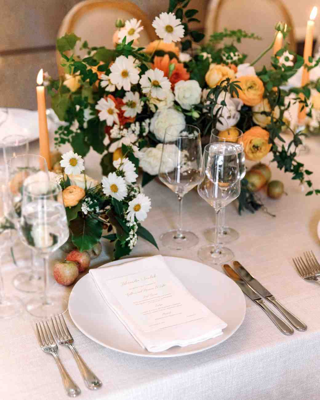 gillian marcus wedding place setting
