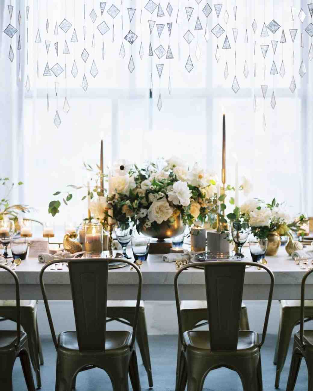 head table hanging geometric