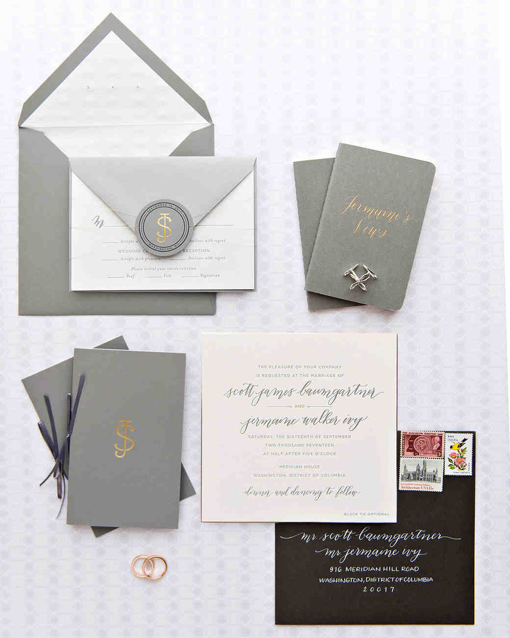jermaine scott wedding dc stationery suite