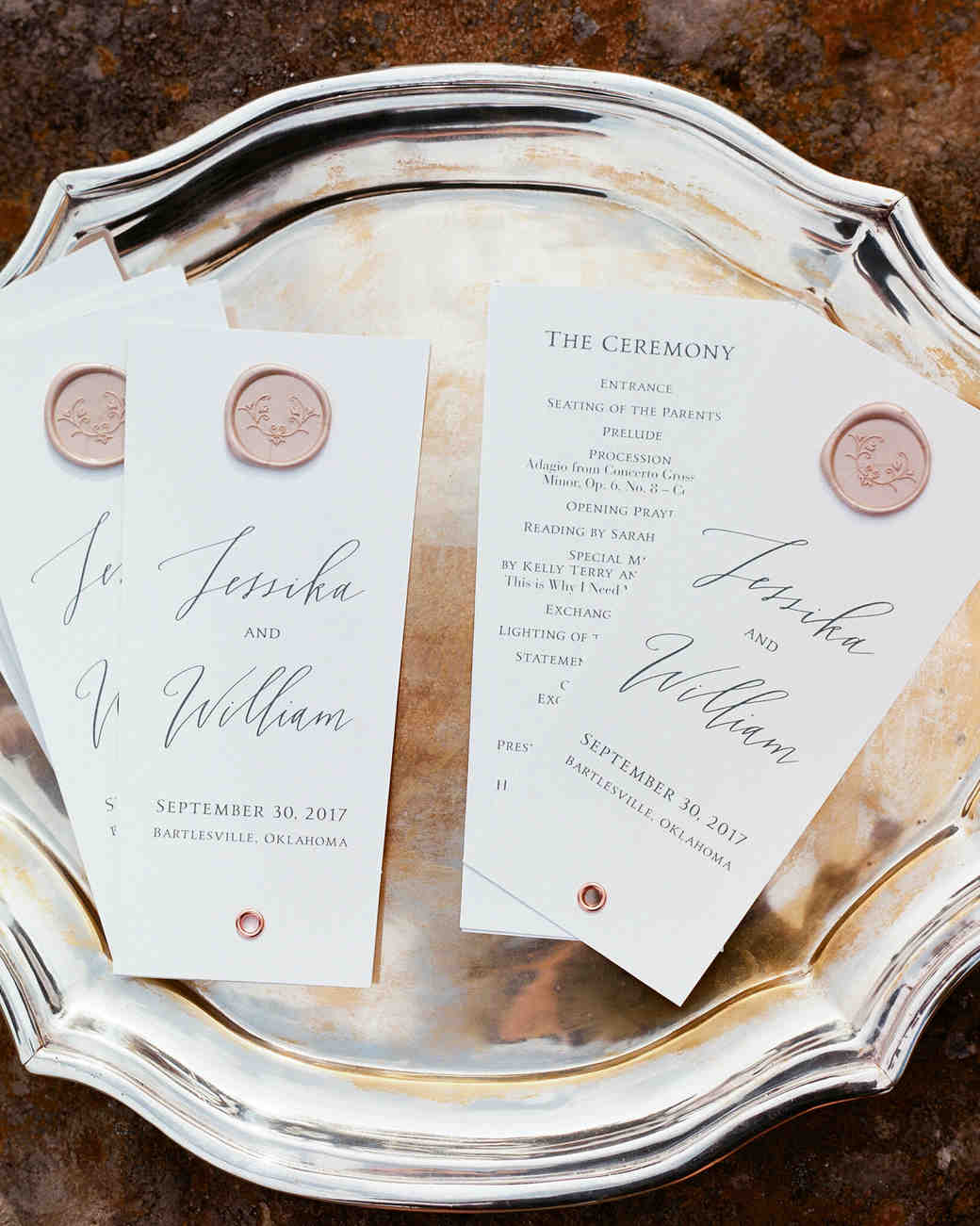 jessika william wedding programs