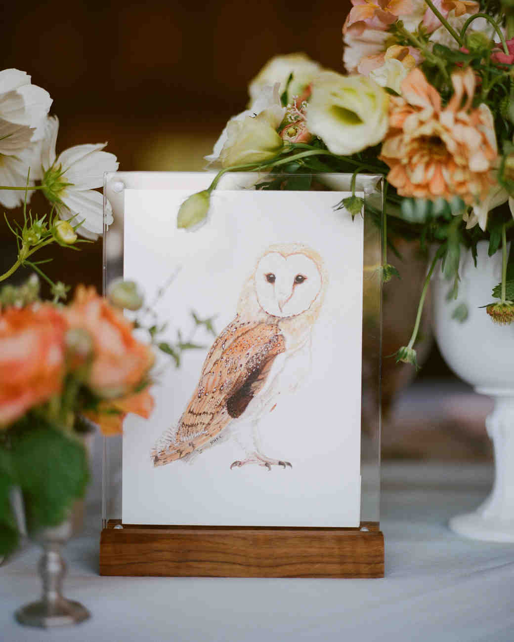 owl wedding table number