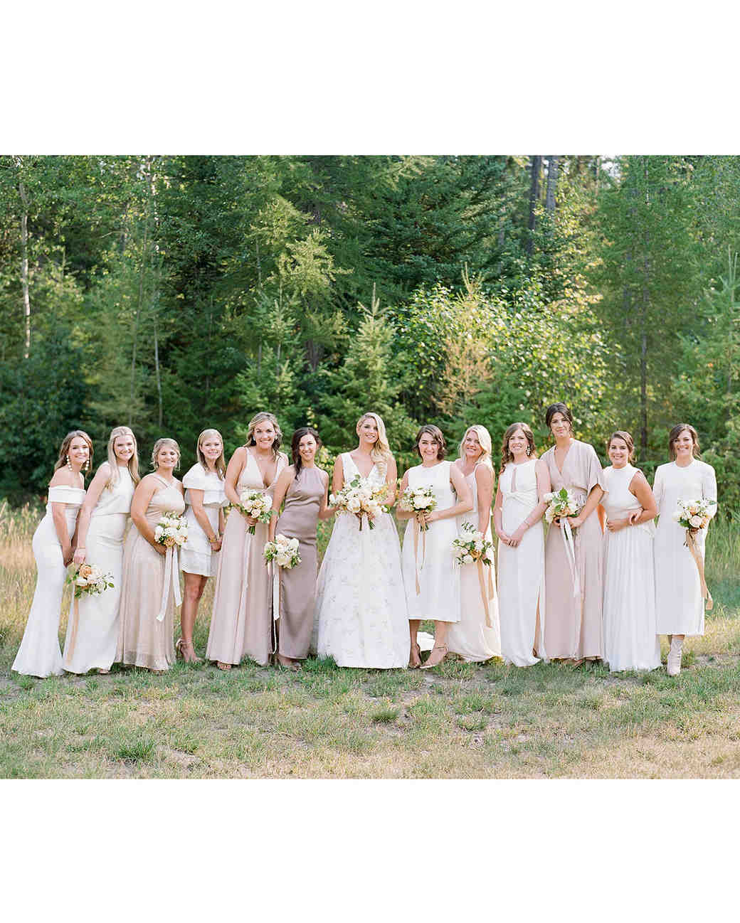 kaitlin jeremy wedding bride with bridesmaids