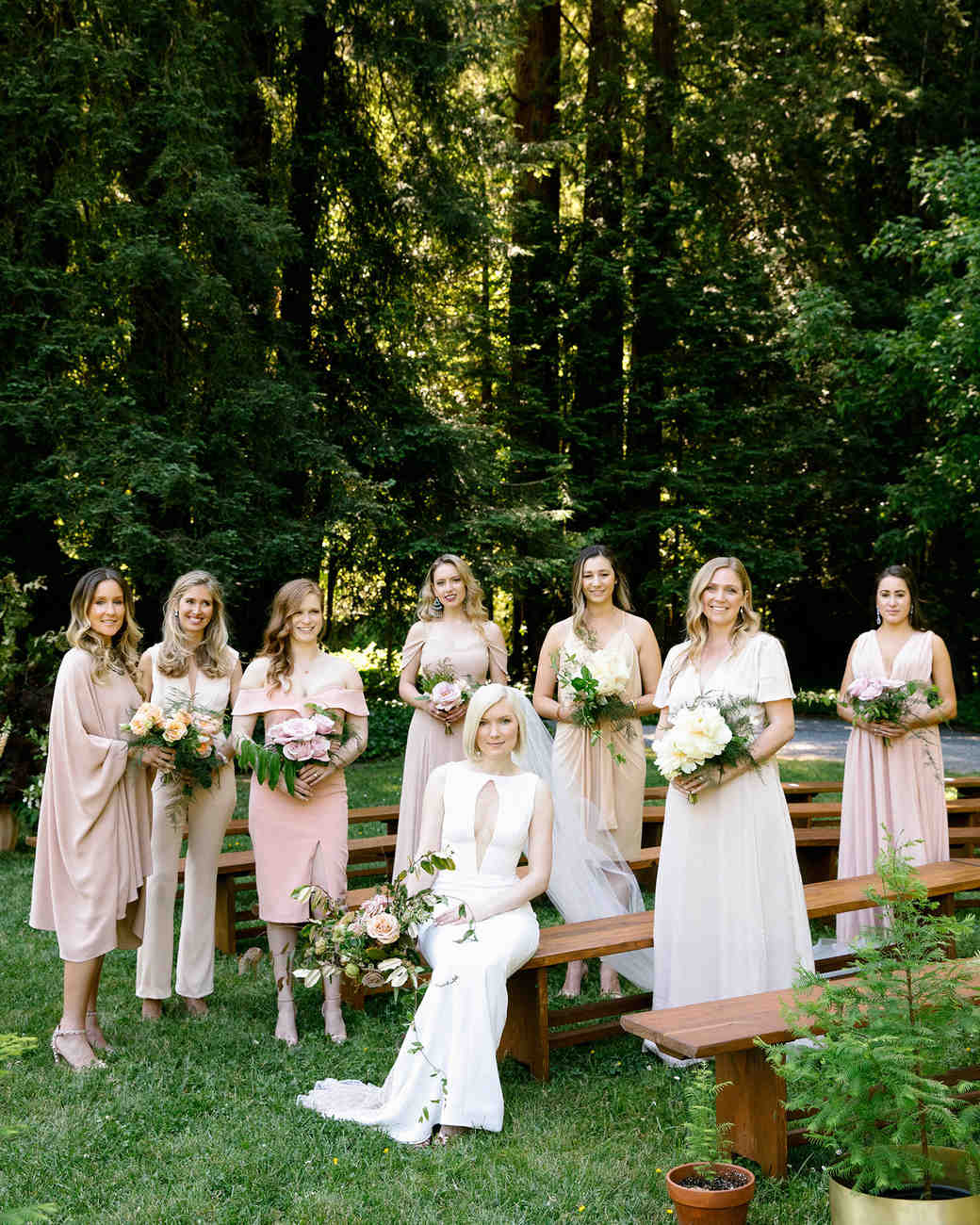 kendall jackson wedding bride and bridesmaids