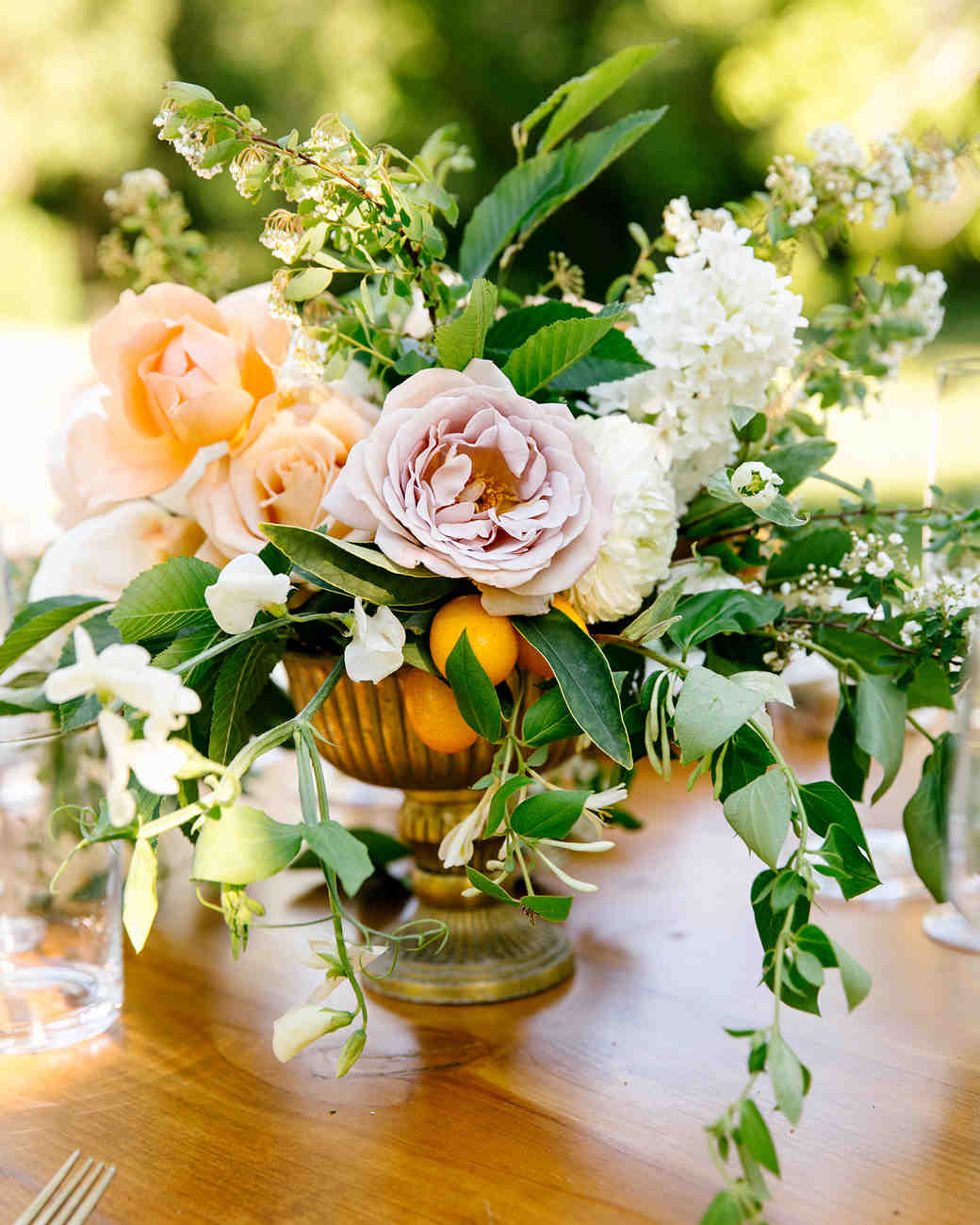 kendall jackson wedding floral centerpiece