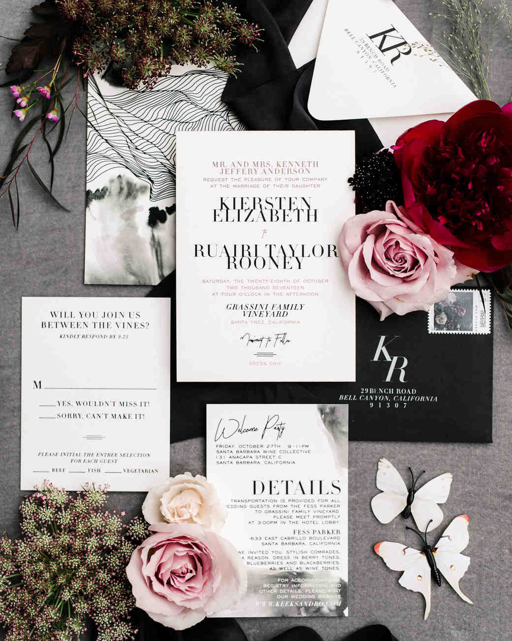 kiersten ruairi wedding invitation