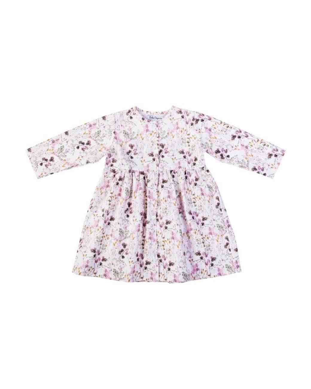 Bebe Organic Pale Purple Floral Flower Girl Dress