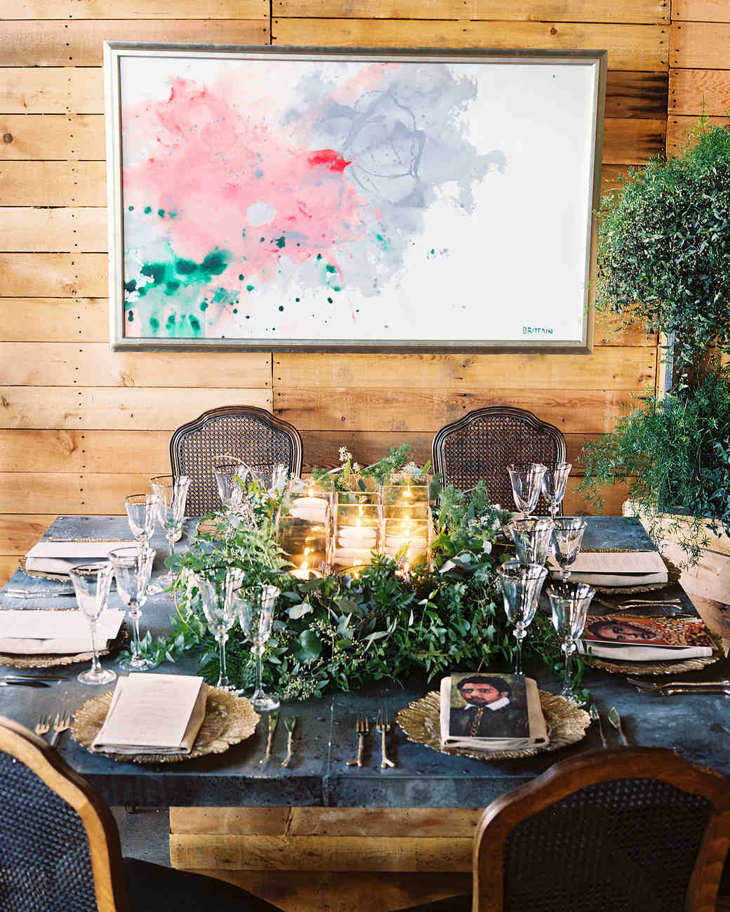 lindsey william wedding dc paintings table