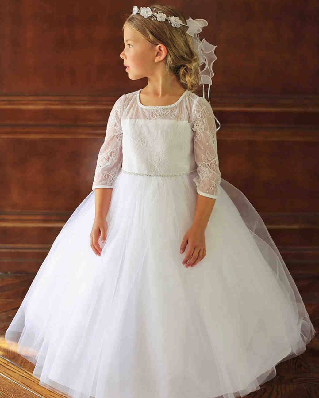 The Sweetest Long Sleeve Dresses For Flower Girls Martha Stewart