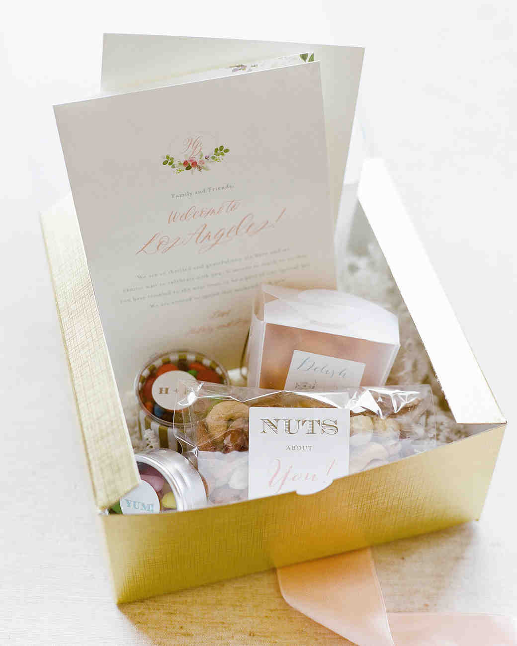 gold welcome box