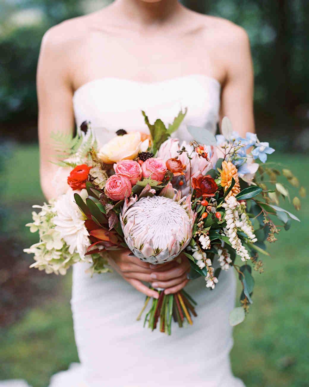 15 Protea Wedding Bouquets and Arrangements Martha Stewart Weddings