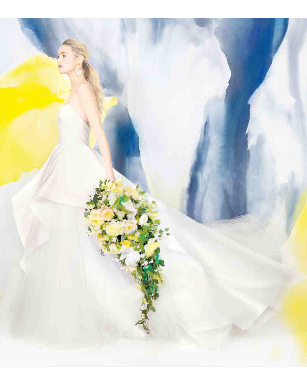 How to Add Color to Your Wedding Dress | Martha Stewart Weddings