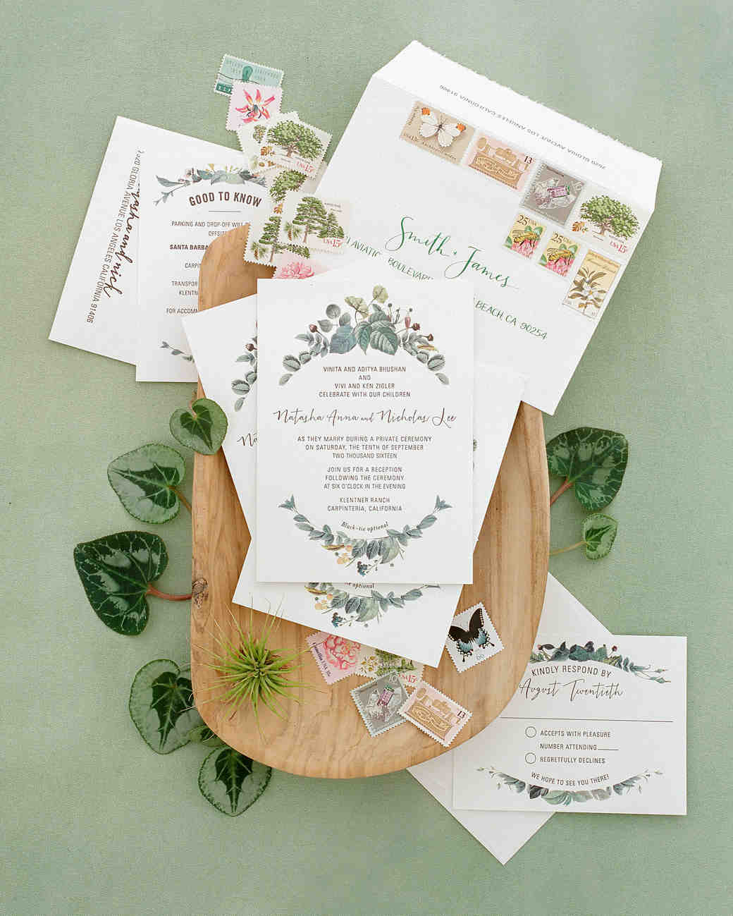 natasha nick wedding california stationery