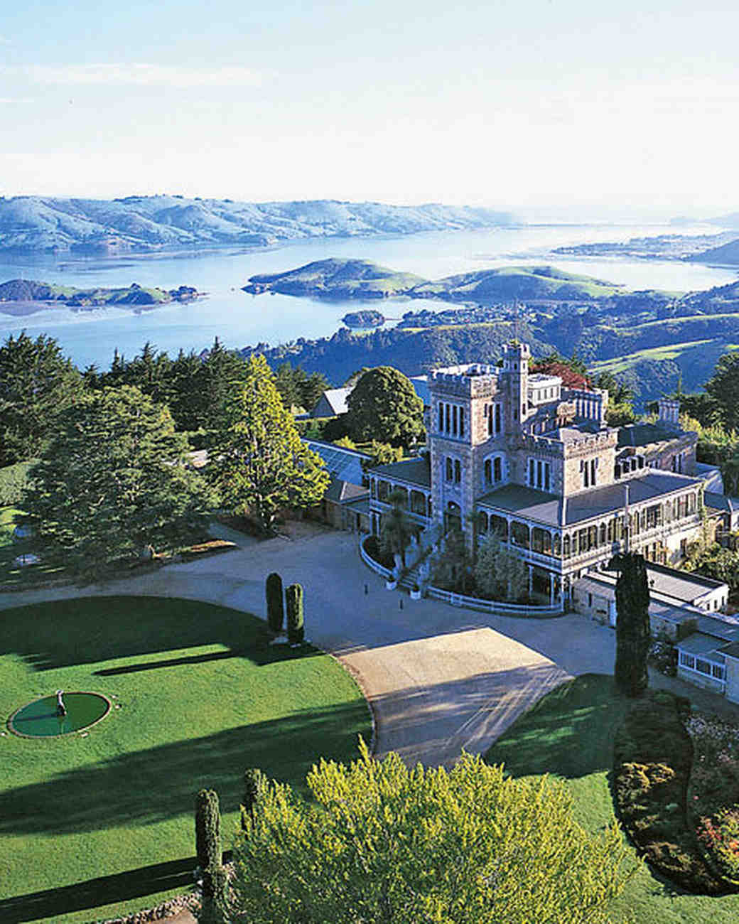 new zealand dunedin larnach castle gardens