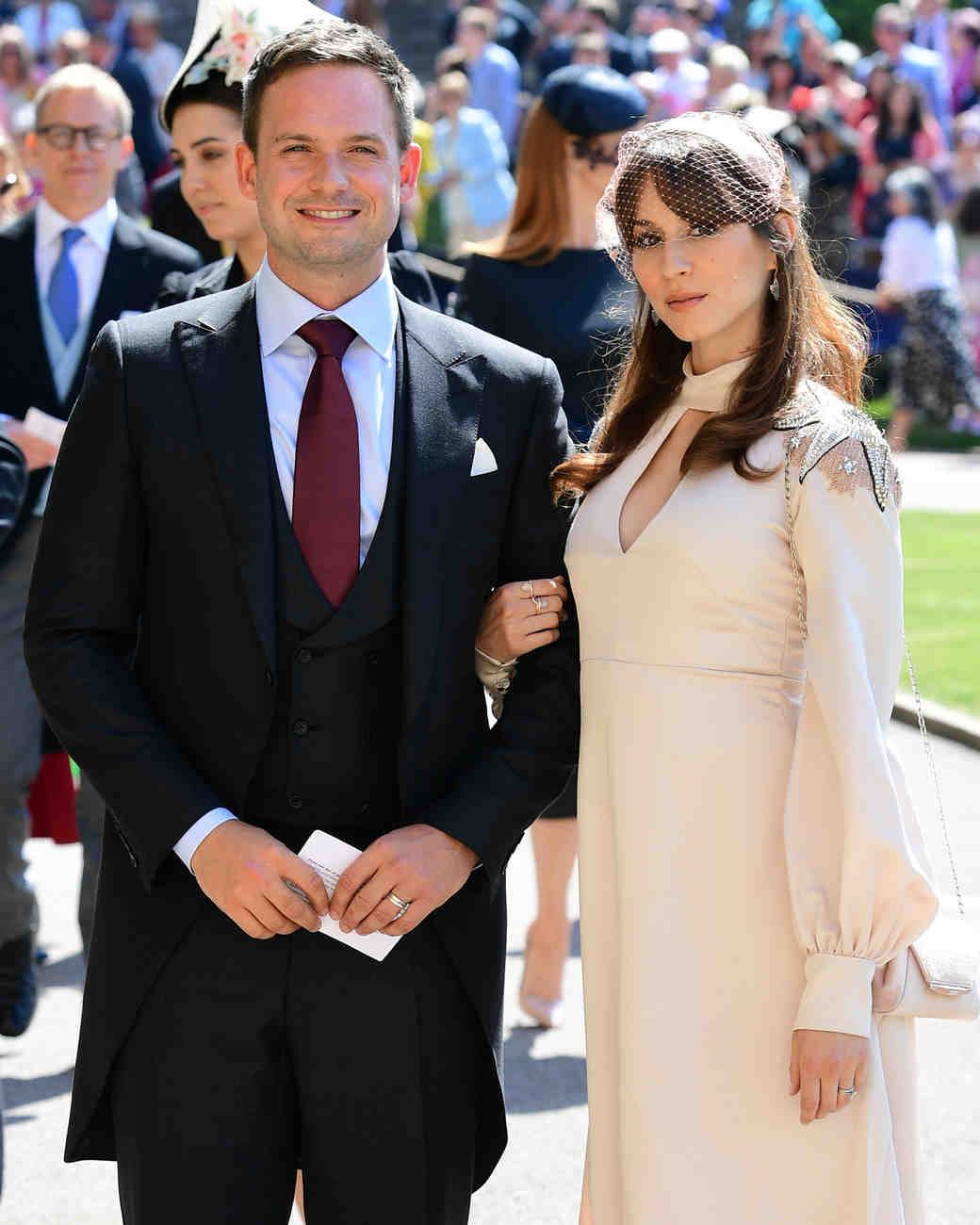 Patrick J Adams and Troian Bellisario Royal Wedding 2018