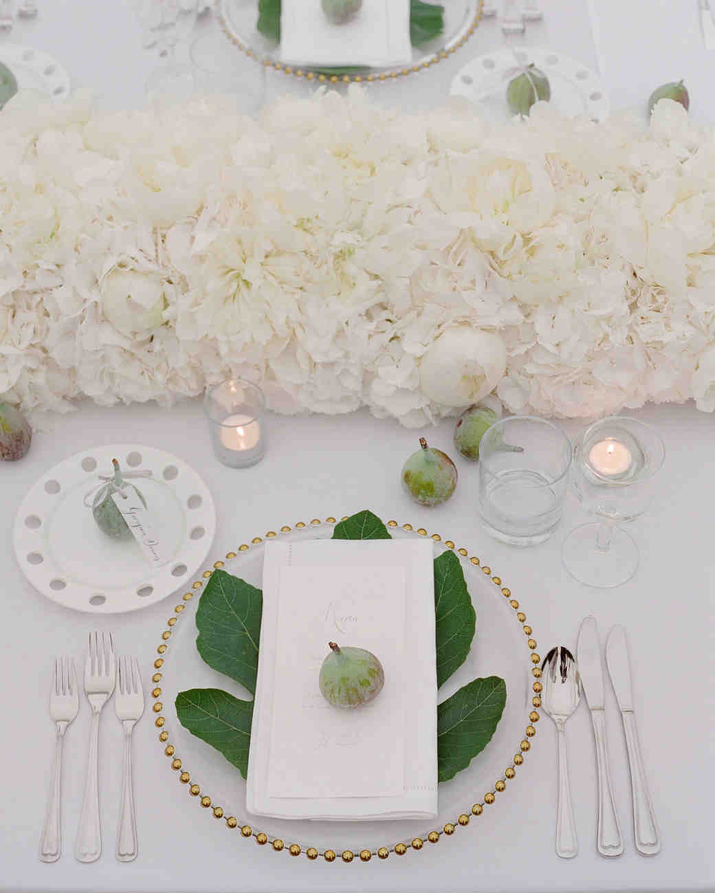 peony matthew england wedding place setting with figs and white peonies