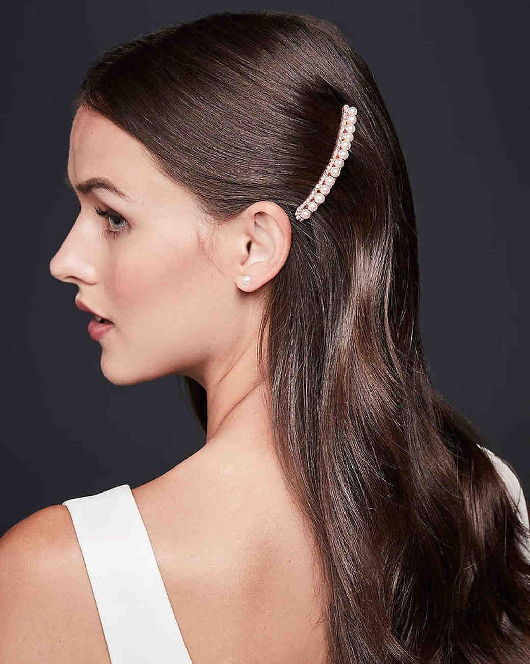 Linear and Pearl Crystal Hair Comb