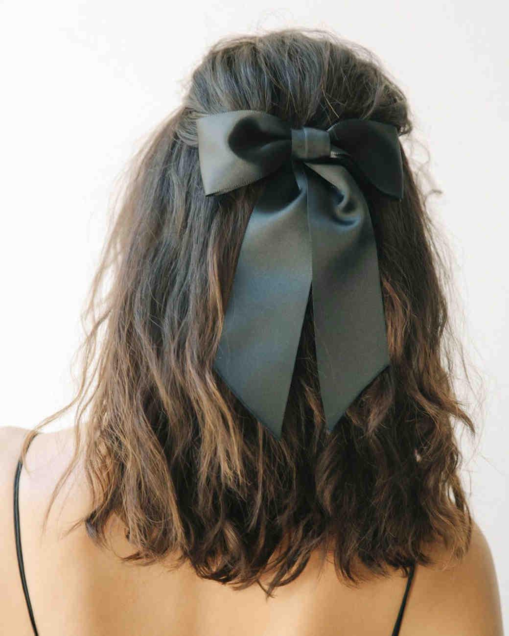 Black Bow Barrette