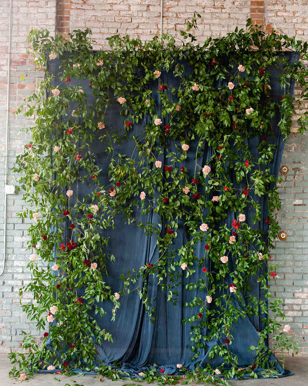 floral and greenery backdrop