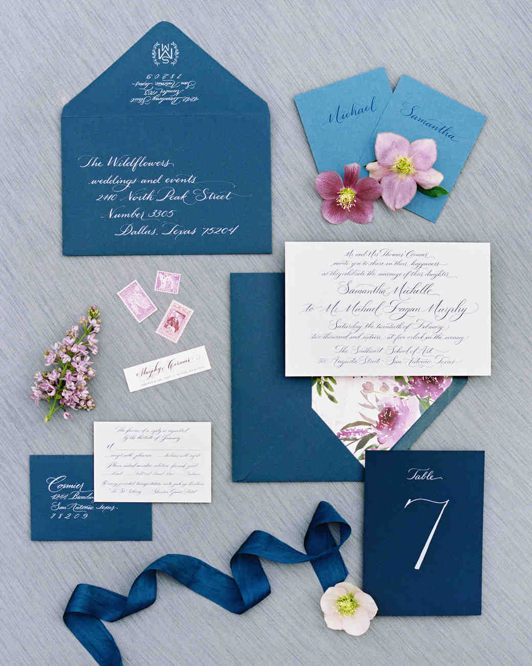 samantha michael wedding stationery