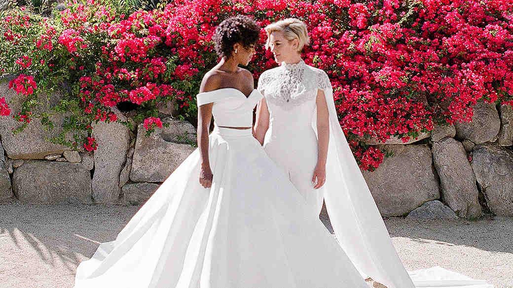 samira wiley lauren morelli wedding brides
