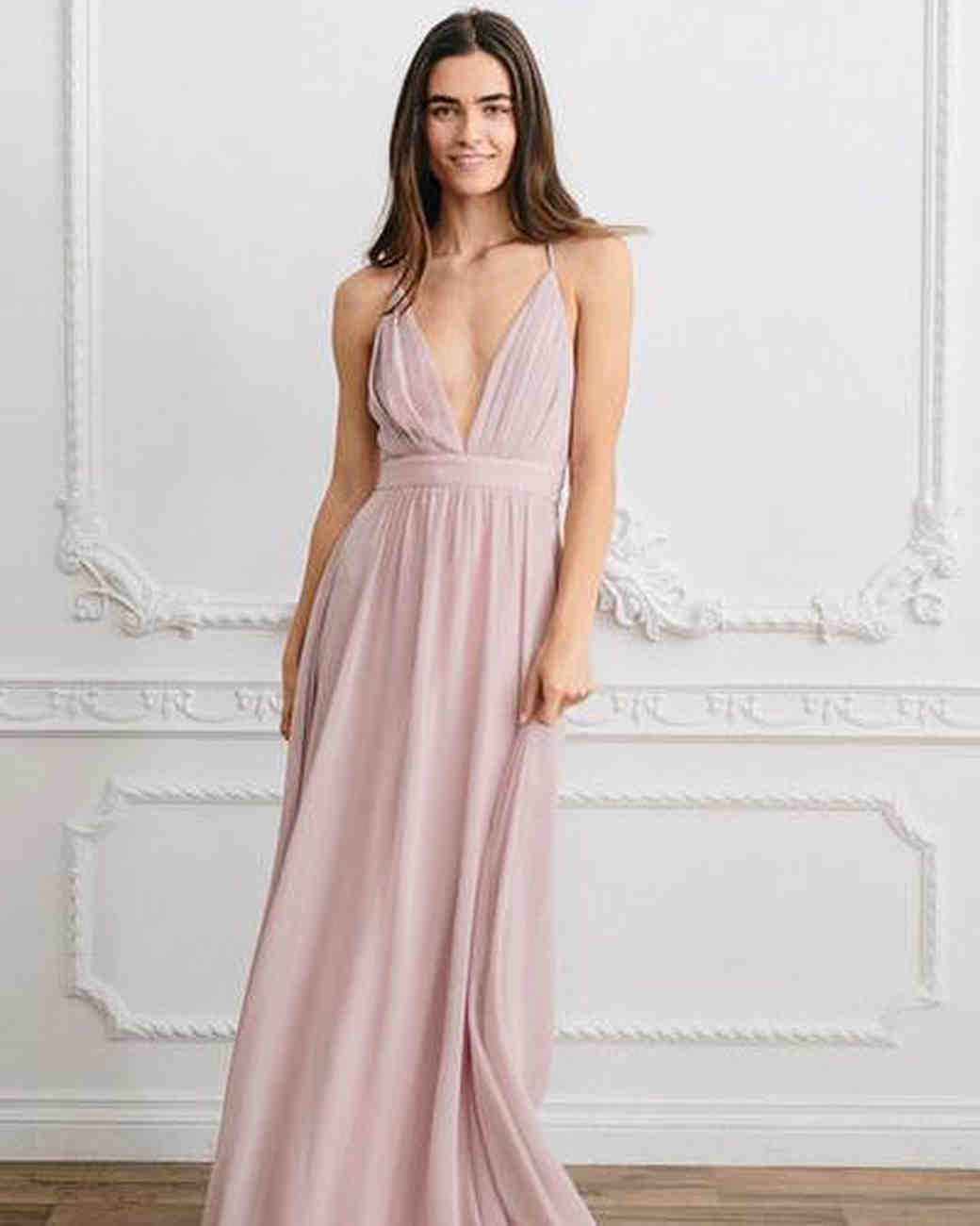 Spaghetti Strap Bridesmaid Dress