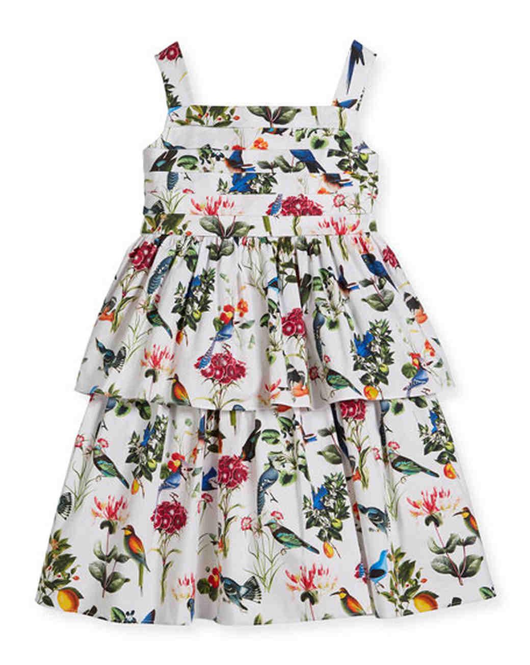 spring flower girl dresses floral oscar de la renta