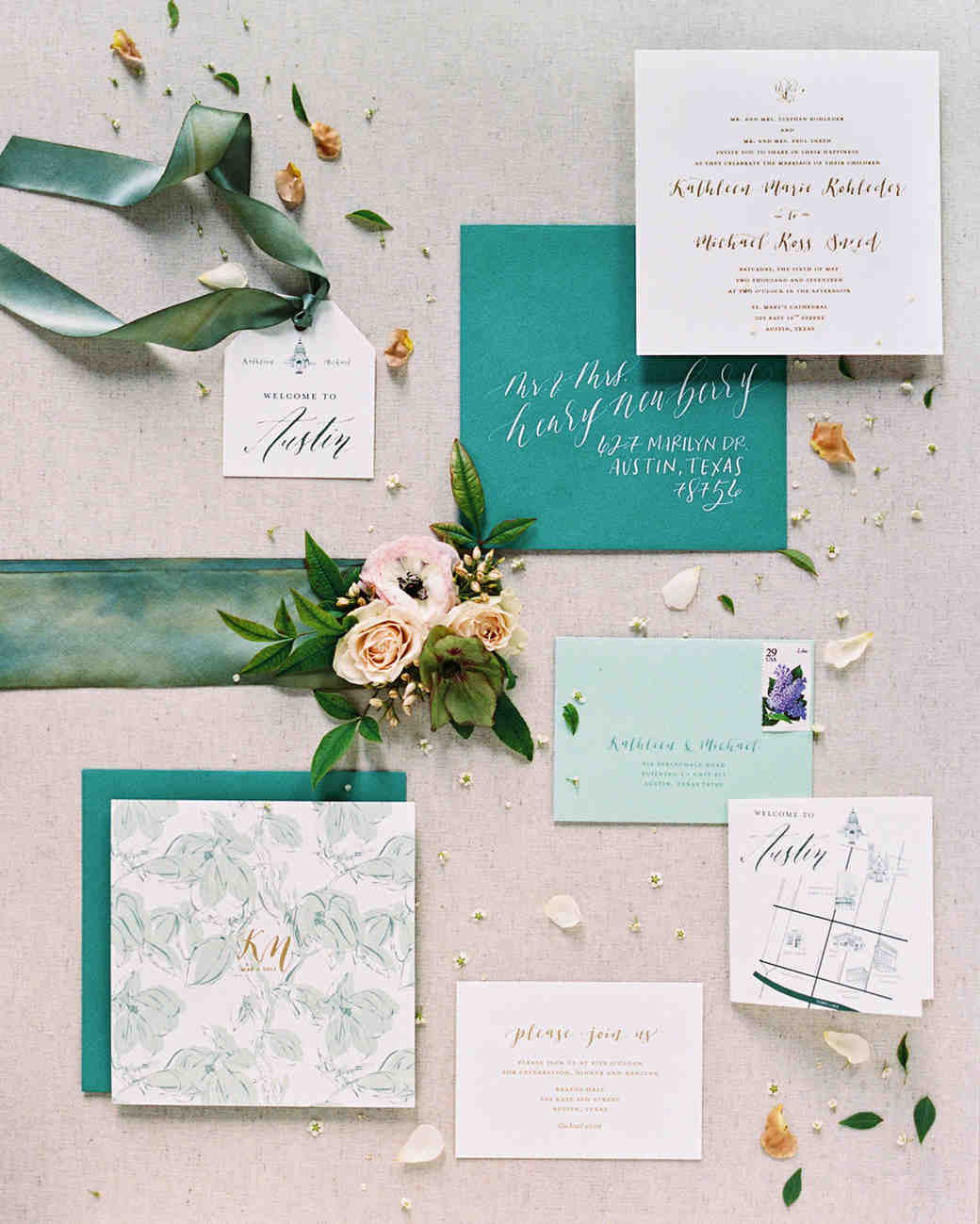 The Freshest Spring Wedding Invitations Martha Stewart Weddings