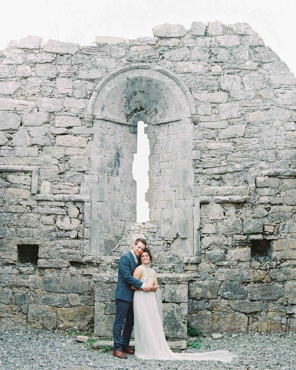 couple historic chapel wall portrait