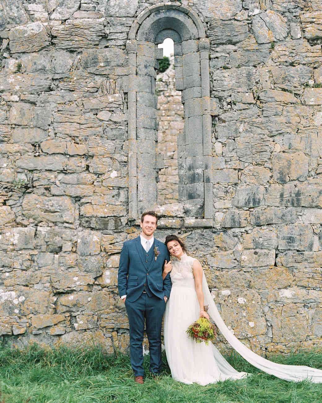 couple portrait chapel wall