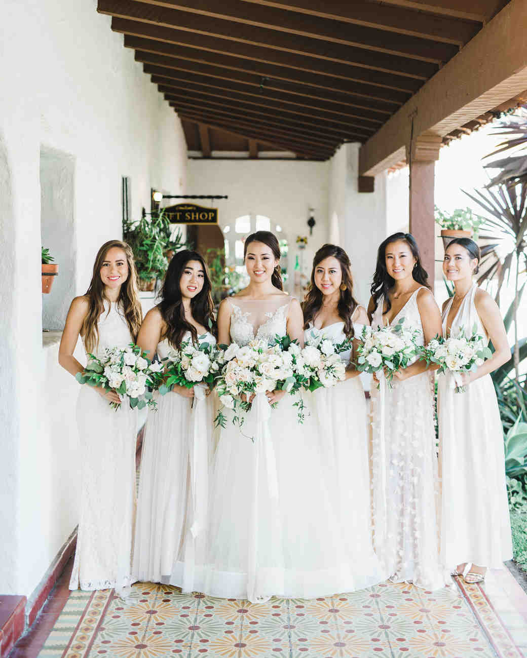 26 Chic Bridal Parties Wearing All-White Dresses | Martha Stewart ...