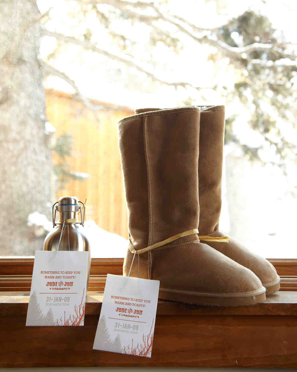 Flask and Fur Boot Favors