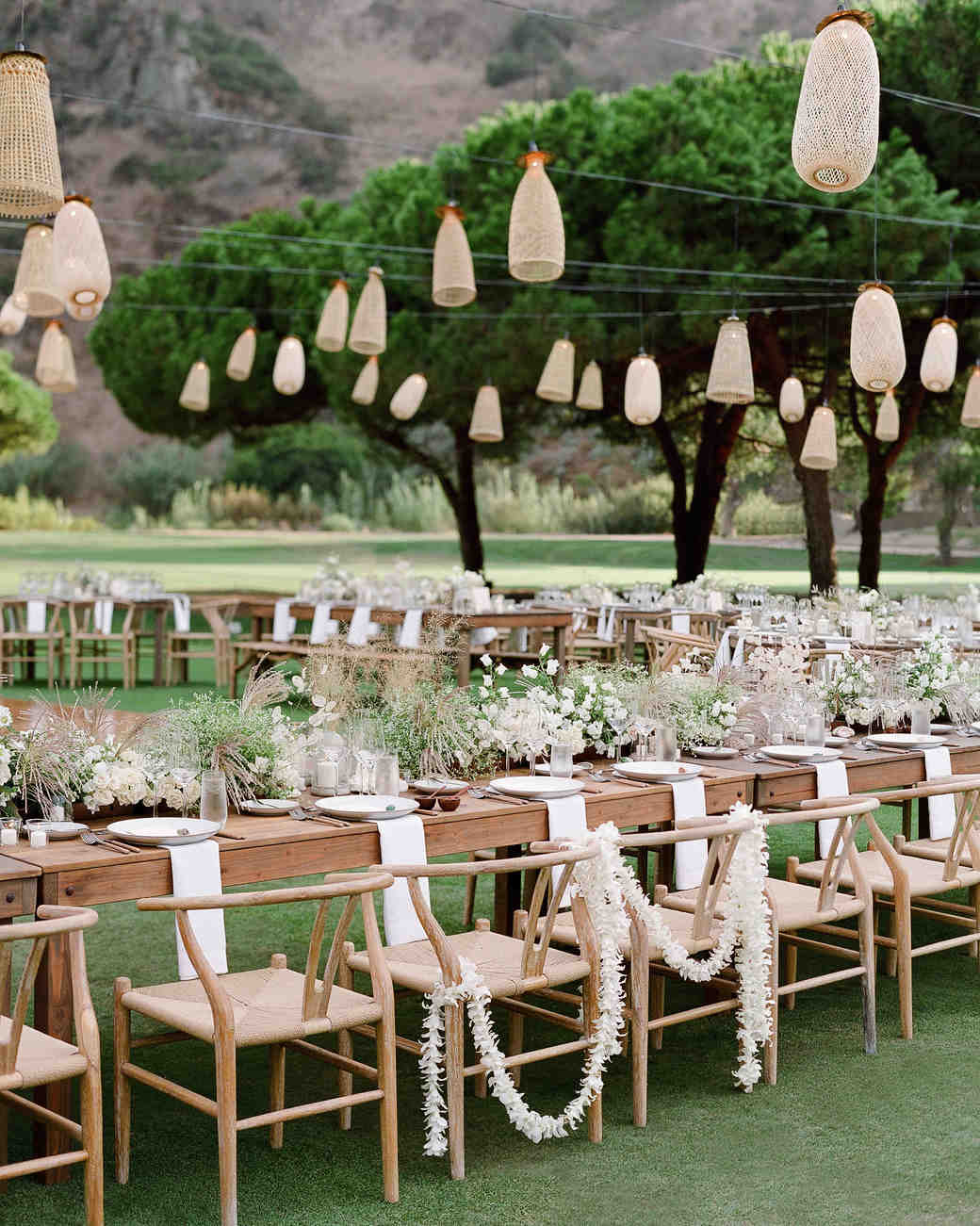 alex drew california wedding reception tables lanterns