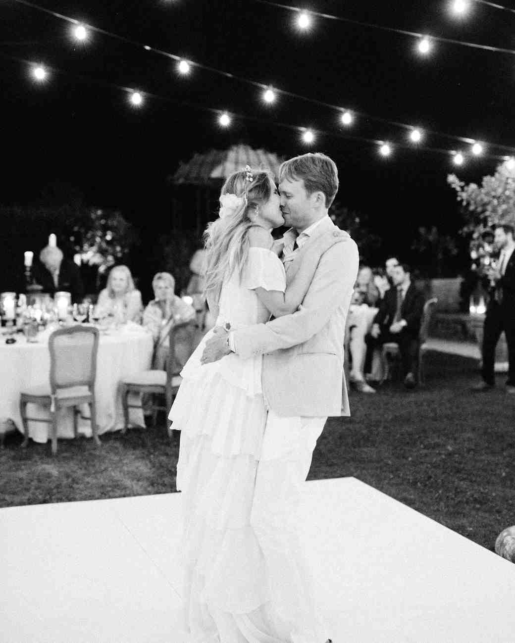 alexis zach wedding italy first dance black white