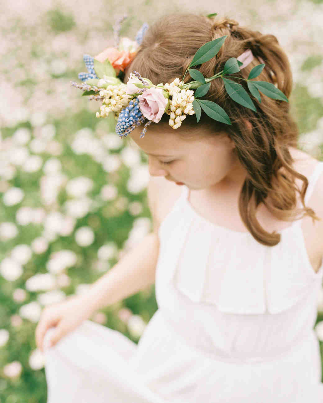 ashley adam wedding texas flower girl crown