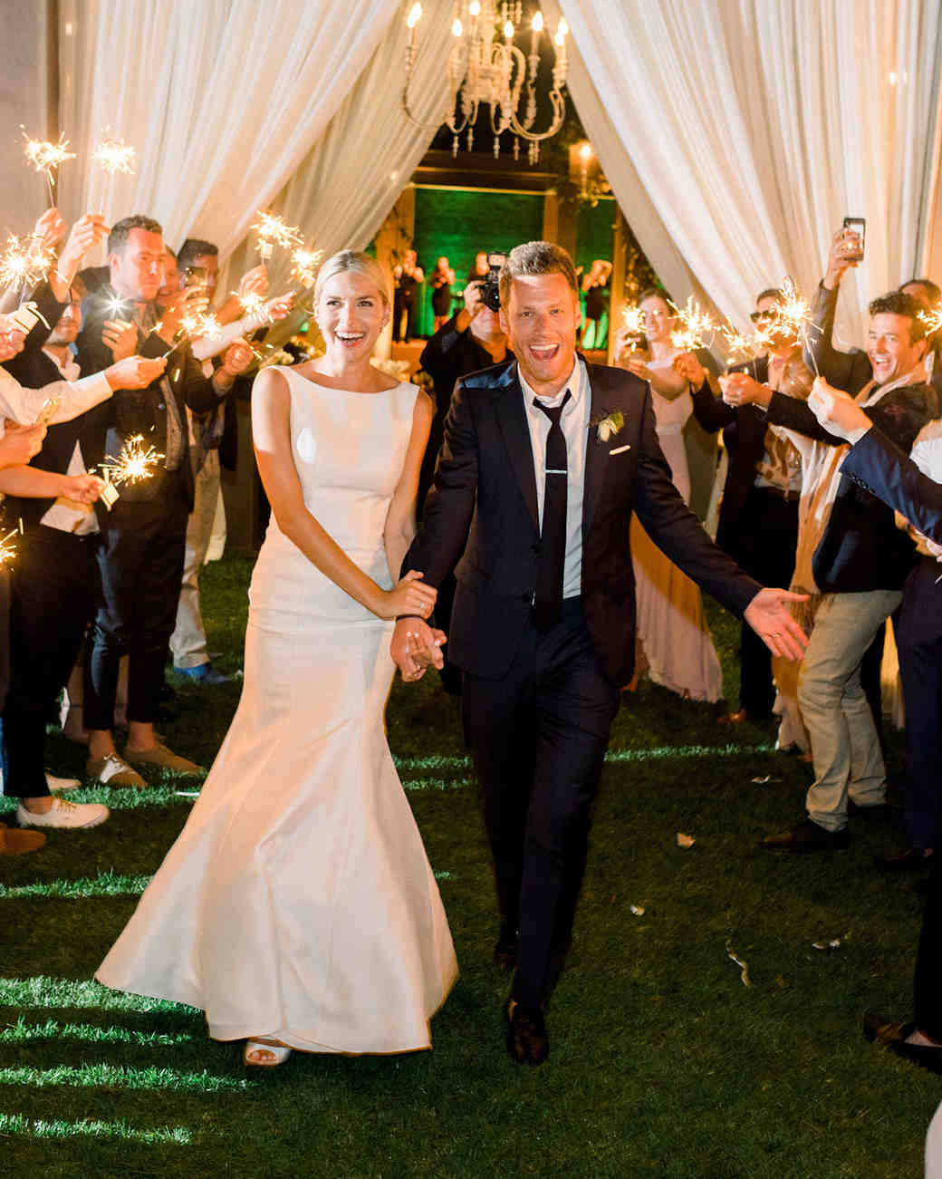 ashlie adam alpert wedding sparkler send off