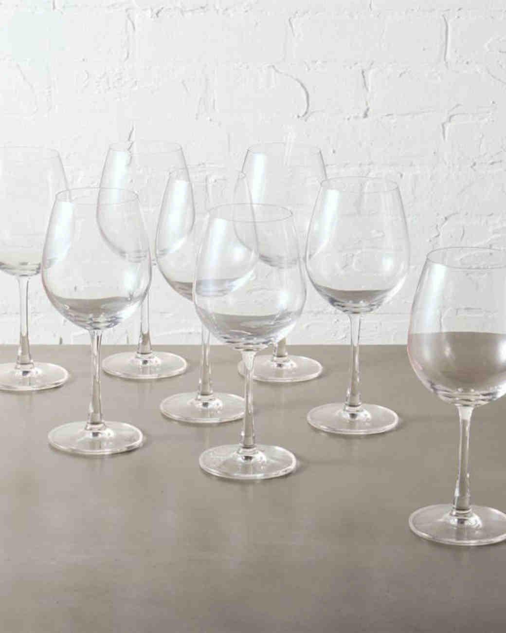 white wine glass set