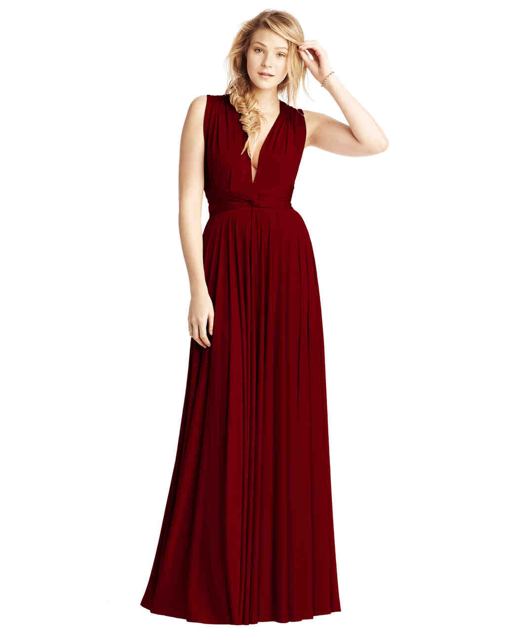 "burgundy bridesmaid dress – Twobirds ""Classic Collection Ballgown"""