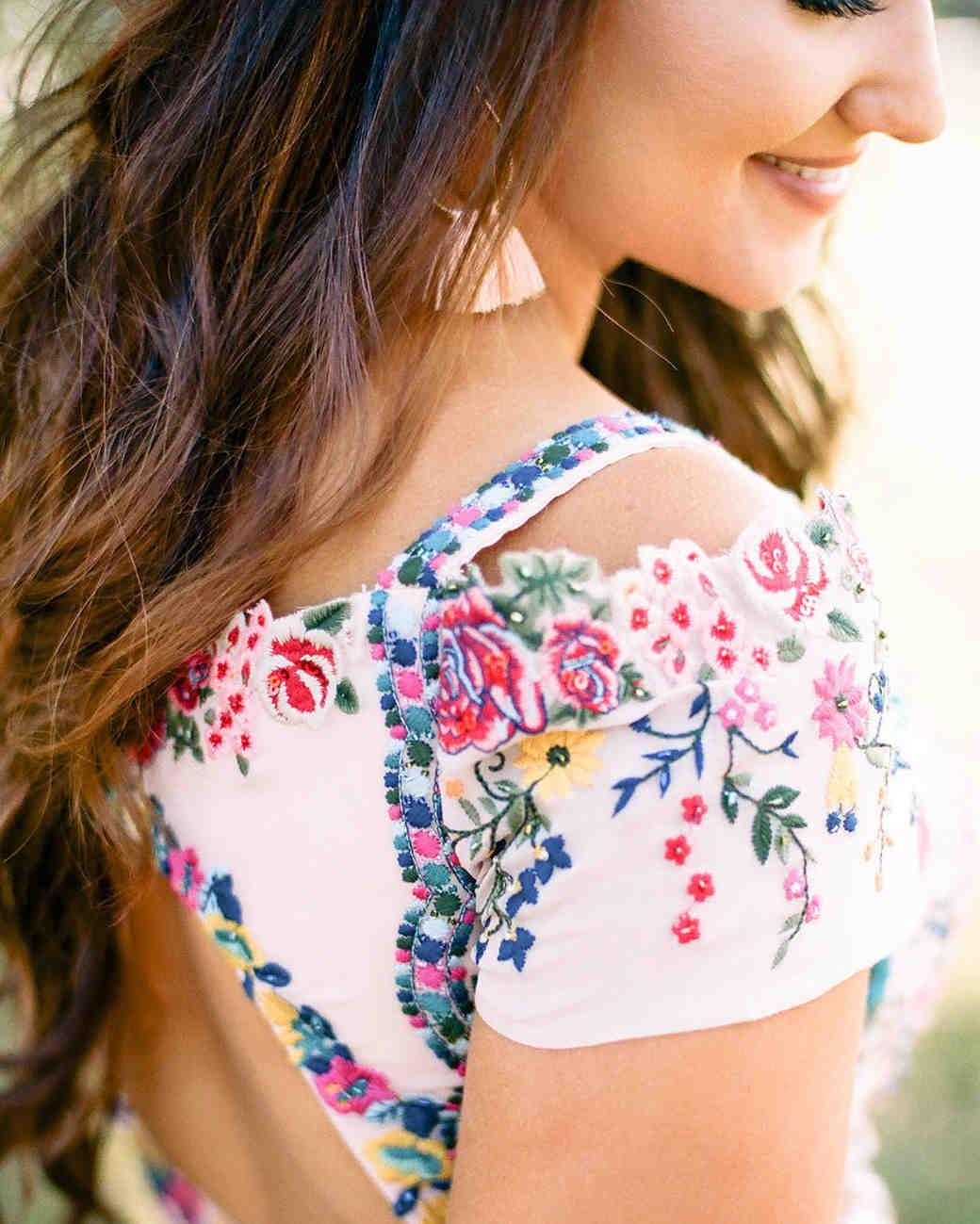 wedding dress sleeve detail