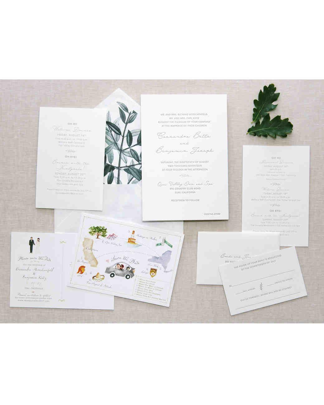 cassandra ben wedding california stationery