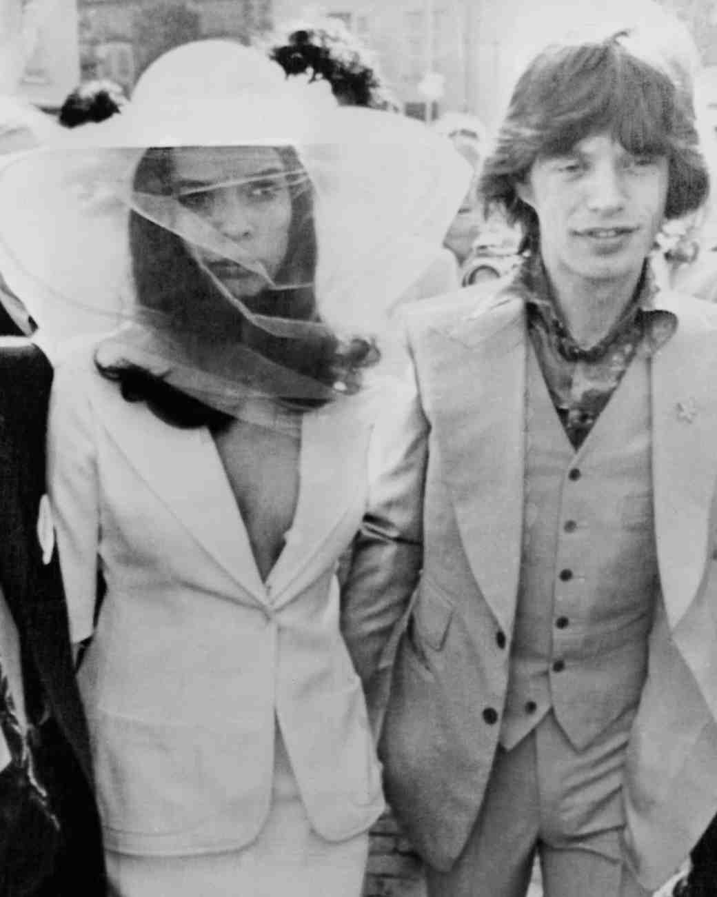 Bianca and Mick Jagger Wedding Photo