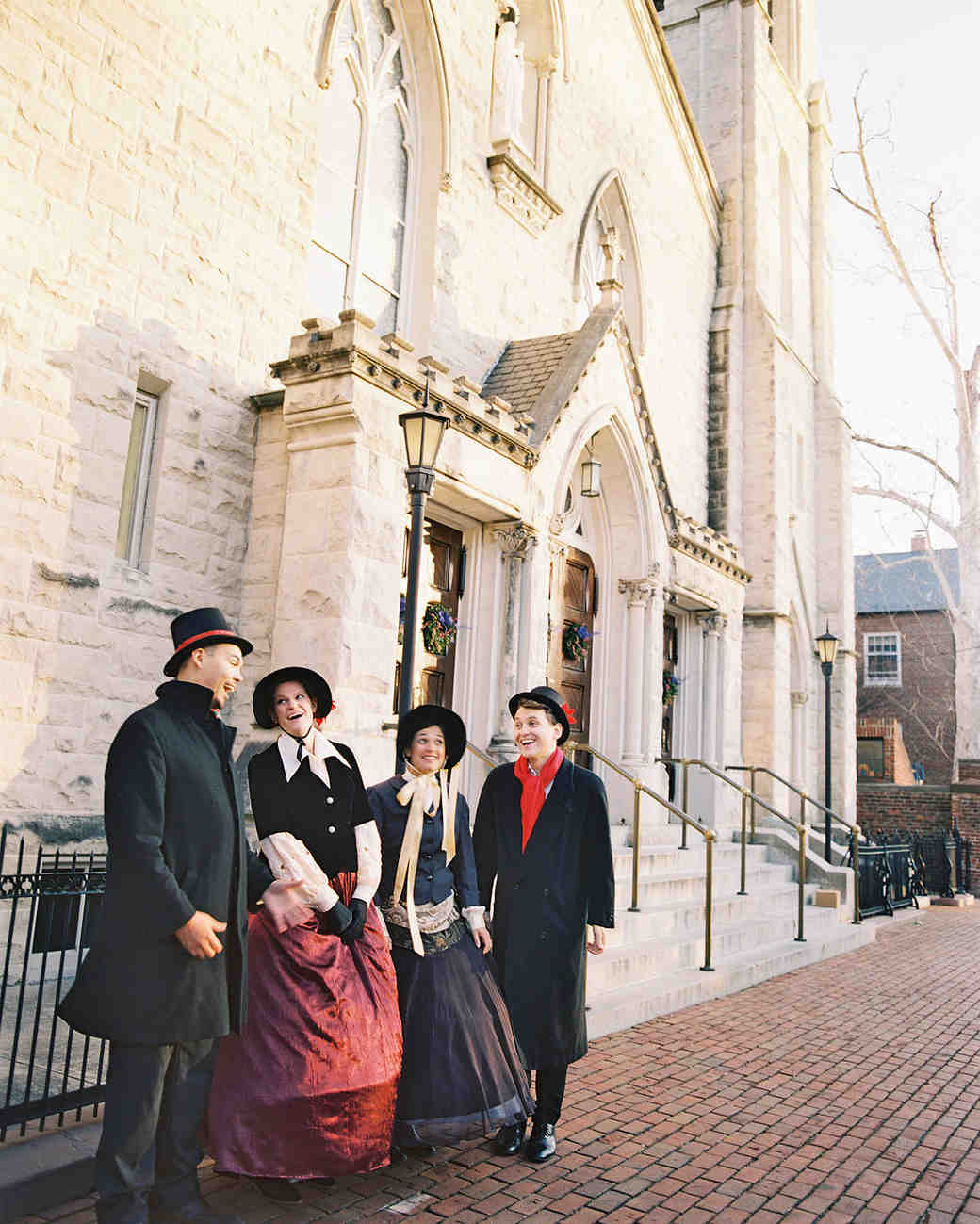 celina rob wedding virginia street carolers