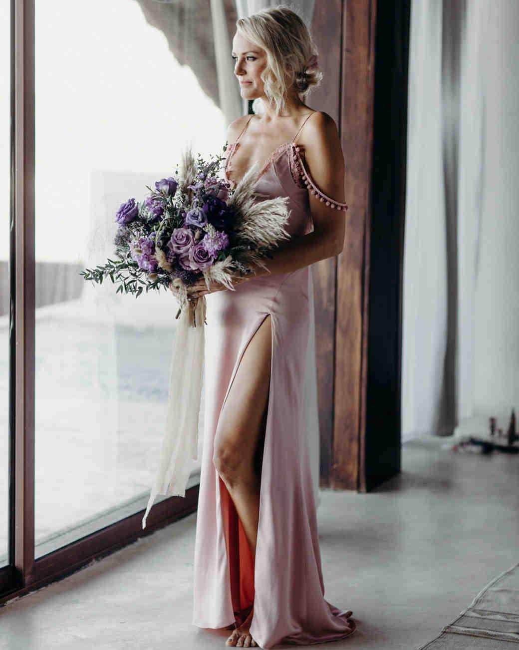 malin akerman pink wedding dress