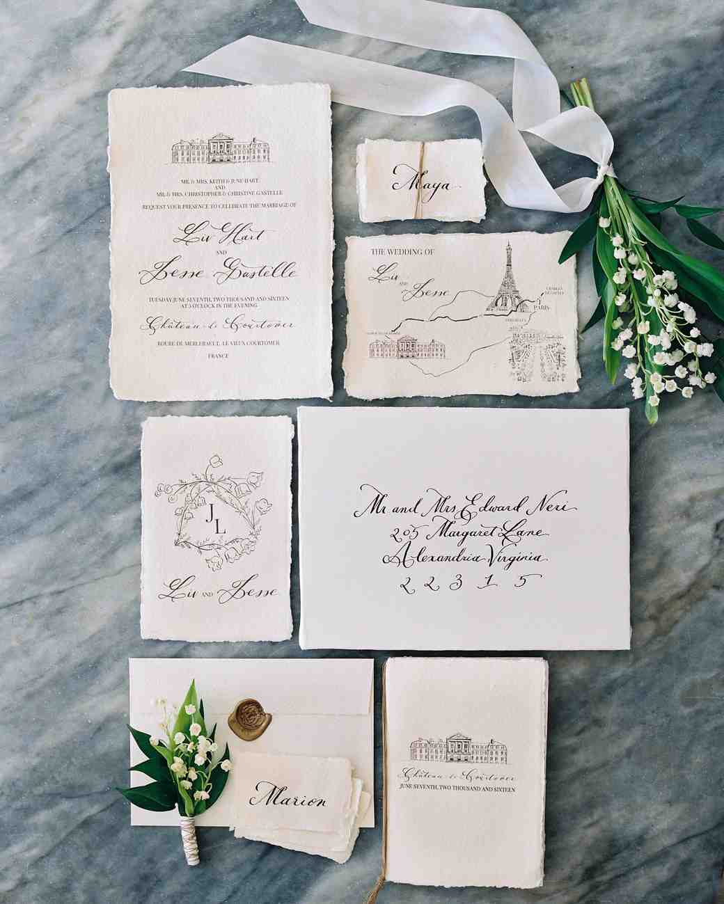 deckle edge invitations laura gordon photography