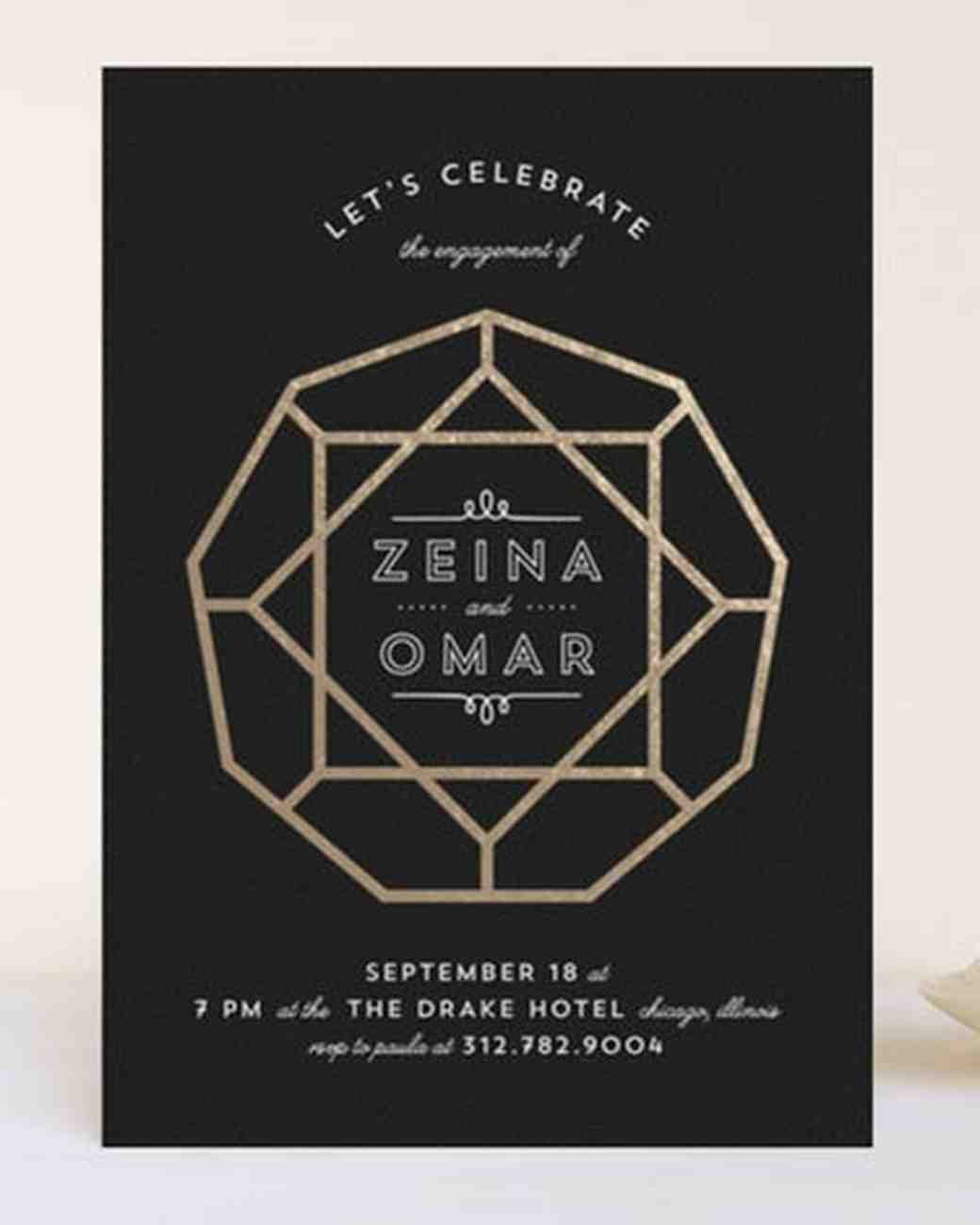 15 Engagement Party Invitations – Creative Engagement Party Invitations