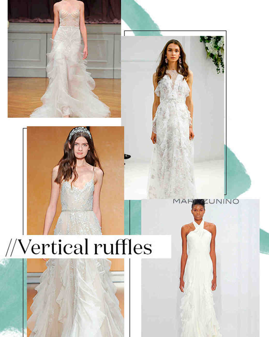Fall 2017 Wedding Dress Trend: Vertical Ruffles