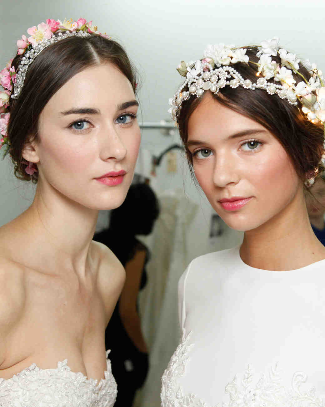 4 flower-filled wedding hairstyles from the bridal shows | martha