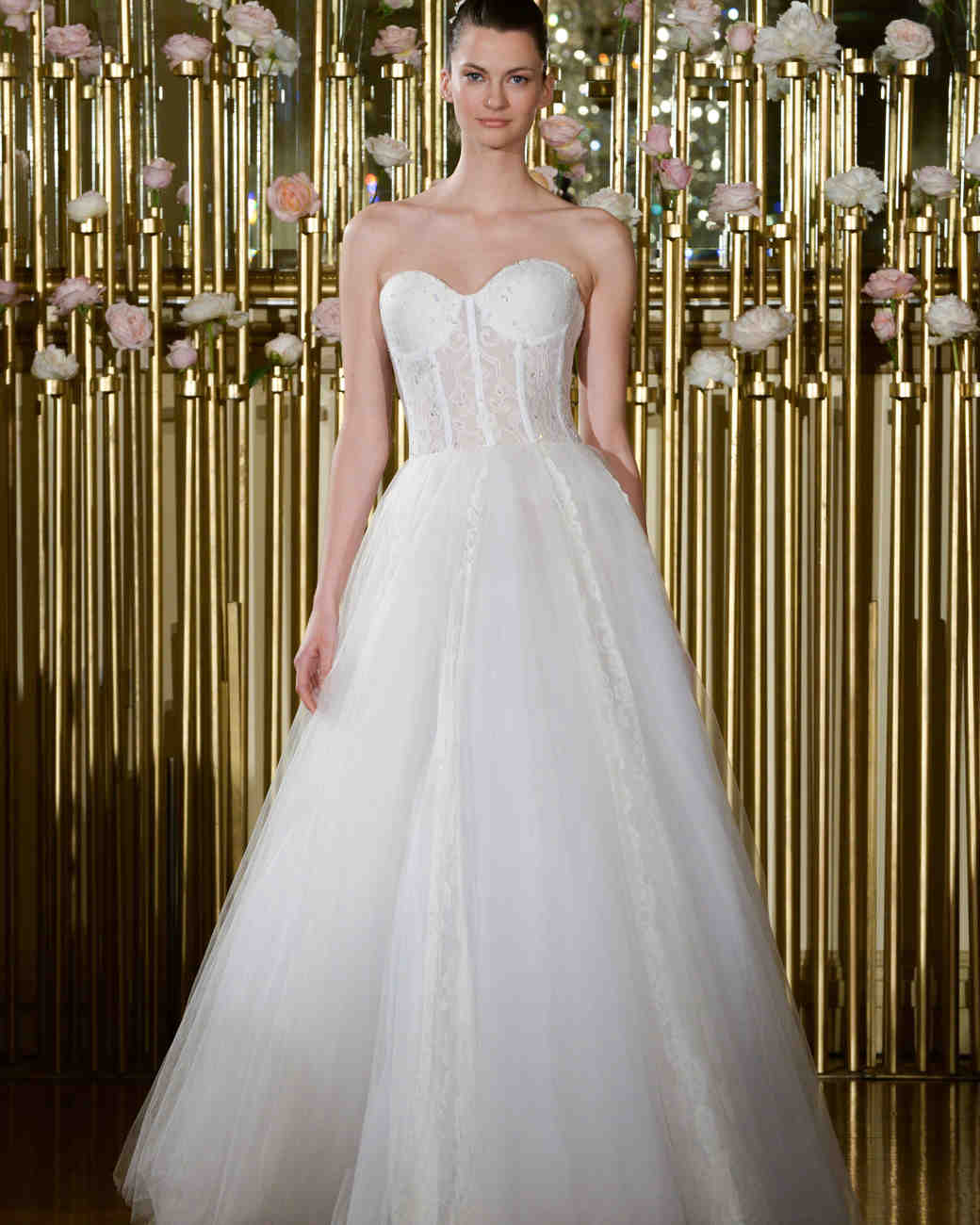 Francesca Miranda Strapless Ball Gown Wedding Dress Spring 2018