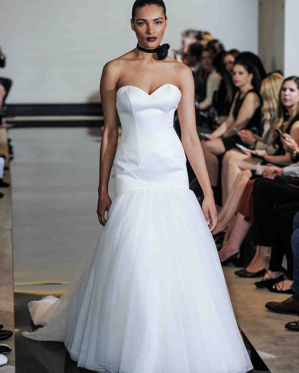 Justin Alexander Strapless Trumpet Wedding Dress Spring 2018